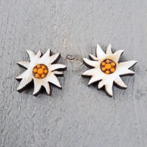 edelweiss oorbel