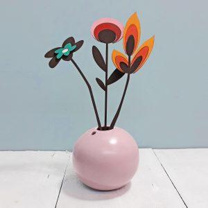retro bloemen