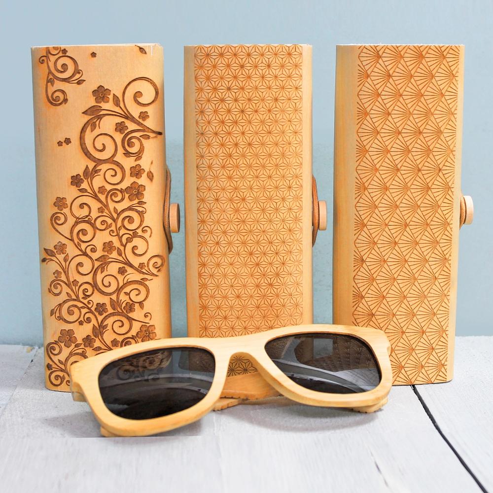 Houten Zonnebril met brillenkoker